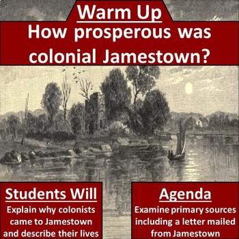 Life in Jamestown Primary Source Close Read