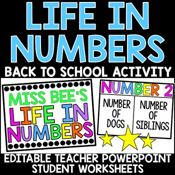 Life in Numbers - Back to School Activity