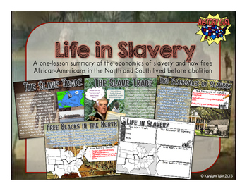 Life in Slavery PowerPoint and Infographic