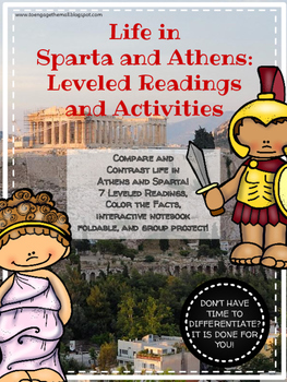 Life in Sparta and Athens: Leveled Readings and Group Activities