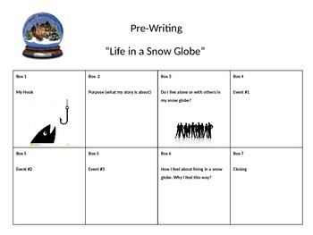 Life in a Snow Globe pre-writing