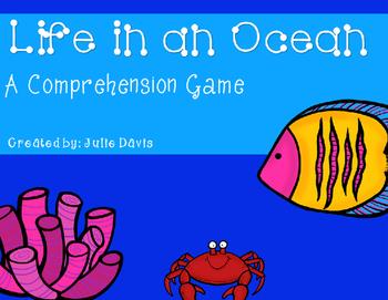 Life in an Ocean Comprehension Game Kindergarten