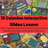 Life in the 13 Colonies United States U.S. Interactive Sli