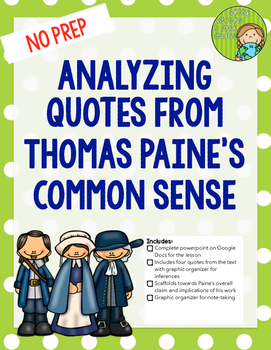 Analyzing Quotes from Thomas Paine's Common Sense