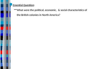 Life in the British Colonies PowerPoint