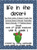 Life in the Desert, MMH Treasures 2nd Grade, Unit 5 Week 1