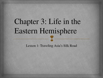 Life in the Eastern Hemisphere Notes and Jeopardy Game