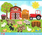 Life in the Farm Clipart Set