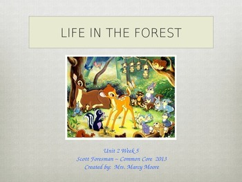 """""""Life in the Forest"""" (Instructional Guide for Reading Street 2013)"""