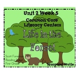 Life in the Forest Reading St Unit 2 Week 5 1st Gr. Common Core Literacy Centers