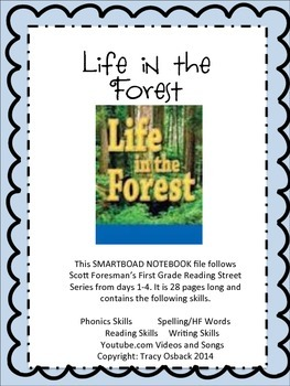 Life in the Forest SMARTBoard Lesson Scott Foresman Reading Street Grade 1