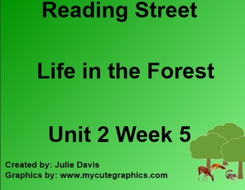 Life in the Forest SmartBoard Companion 1st First Grade