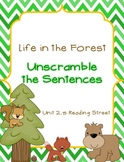 Life in the Forest - Unscramble the Sentences SF 2.5 Reading Street