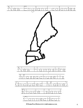 Life in the New England Colonies Mini Coloring Book-Level A