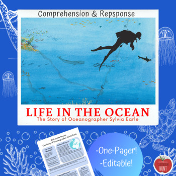 Life in the Ocean: The Story of Oceanographer Sylvia Earle Comprehension Page