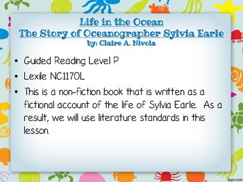 Life in the Ocean- The Story of Sylvia Earle- 4th Grade Jigsaw Literacy Lesson