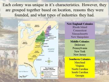 Life in the Original 13 Colonies: PowerPoint