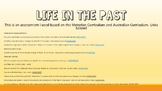 Life in the Past Assessment & Worksheets HASS History Victorian Curriculum