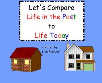 Life in the Past, Life Today  SmartBoard Lesson for Primary Grades