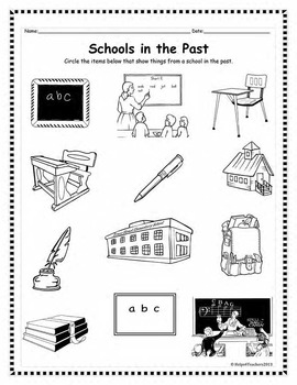 Past and Present: Transportation, Schools, Everyday Objects