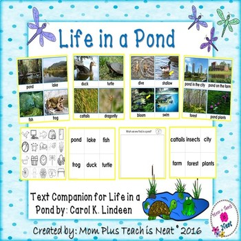Life in the Pond Text Companion Picture Vocabulary Cards a