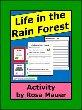 Life in the Rain Forest Task Cards