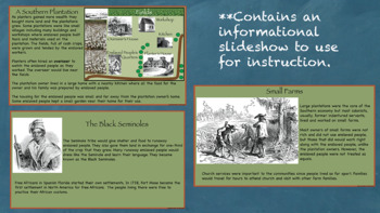 Life in the Southern Colonies Interactive Notebook