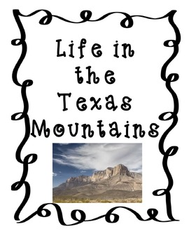 Life in the Texas Mountains-Mountain & Basin