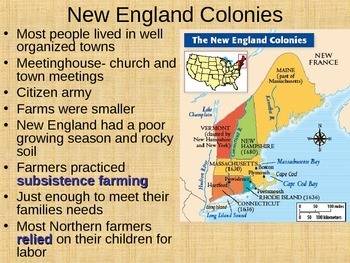 Life in the orginal 13 colonies