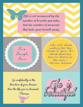 Life is Beautiful (Inspirational Quotes Poster)