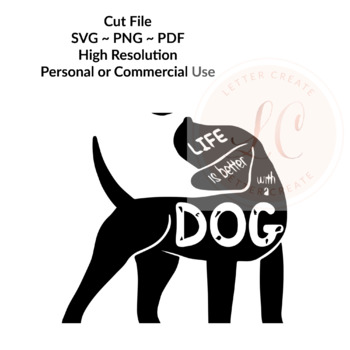 Life is Better With a Dog - SVG Cut File - Cricut File