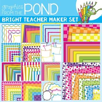 Teacher Maker Set 01 - Brights - Paper and Frames for Teachers
