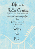 Life is a roller coaster encouraging printable quote