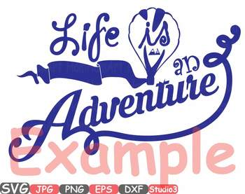 Life is an Adventure clipart birthday mountains svg nature t-shirt monogram 35sv