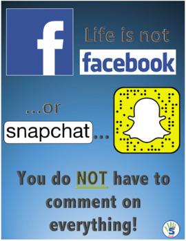 Life is not social media... poster