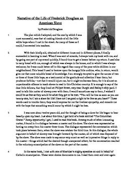 Life of Frederick Douglass - Informational Text Test Prep