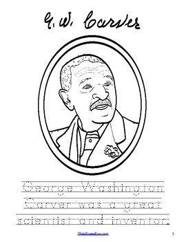 Life of George Washington Carver Coloring Book-Level B