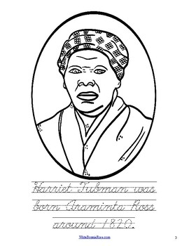 Life of Harriet Tubman Coloring Book-Level C by WriteBonnieRose | TpT