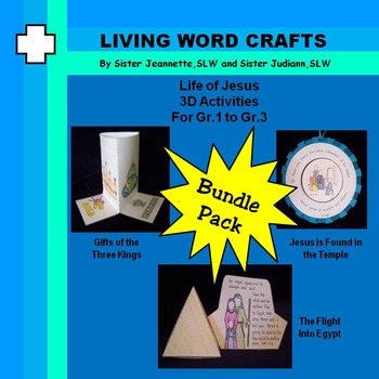Life of Jesus: 3 Kings Gifts, Finding in Temple, Cana Wedding For PreK to Gr.3