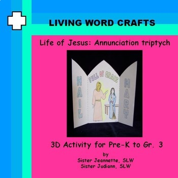 Life of Jesus Annunciation 3D Triptych for Pre-K to Gr. 3