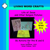 Life of Jesus and Other Religion Pictures Use Wikki Stix Pre-K & K