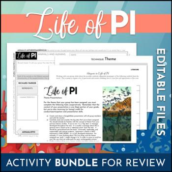Life of Pi Activity Pack - 8 Activities - Novel Study