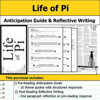 Life of Pi - Anticipation Guide & Written Reflection