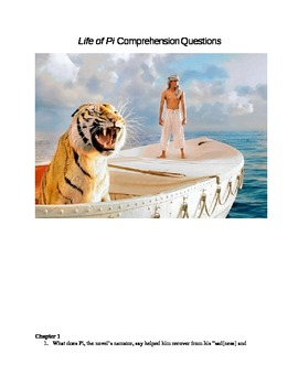 Life of Pi Comprehension Questions and Key