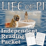 Life of Pi Independent / Summer Reading Packet  (AP Literature/High School)
