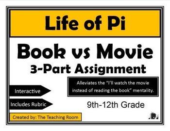 Life of Pi Movie vs Book 3-Part Assignment