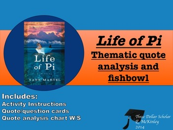 Life of Pi Quote Analysis and Fishbowl Part II (Ch. 37-94)