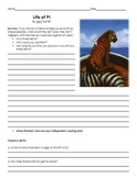 Life of Pi Unit Plan - Reading Guide with Chapter Question