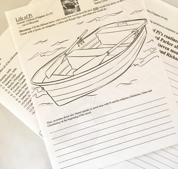 Life of Pi Teacher Resources Complete Unit: editable