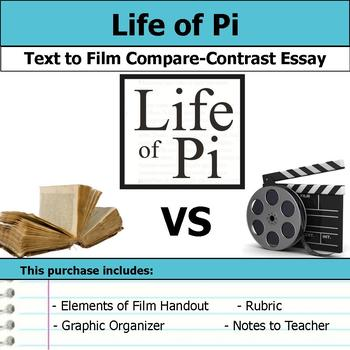 Life of Pi - Text to Film Essay Bundle